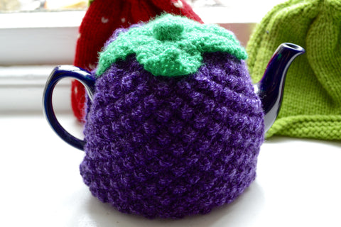 Knitted Blackberry Tea Cosy