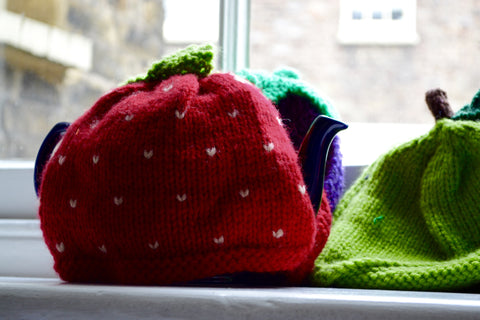 4 x Fruit Tea Cosy Knitting Pattern Bundle