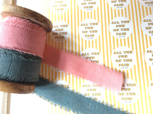 Cotton/linen blend ribbon