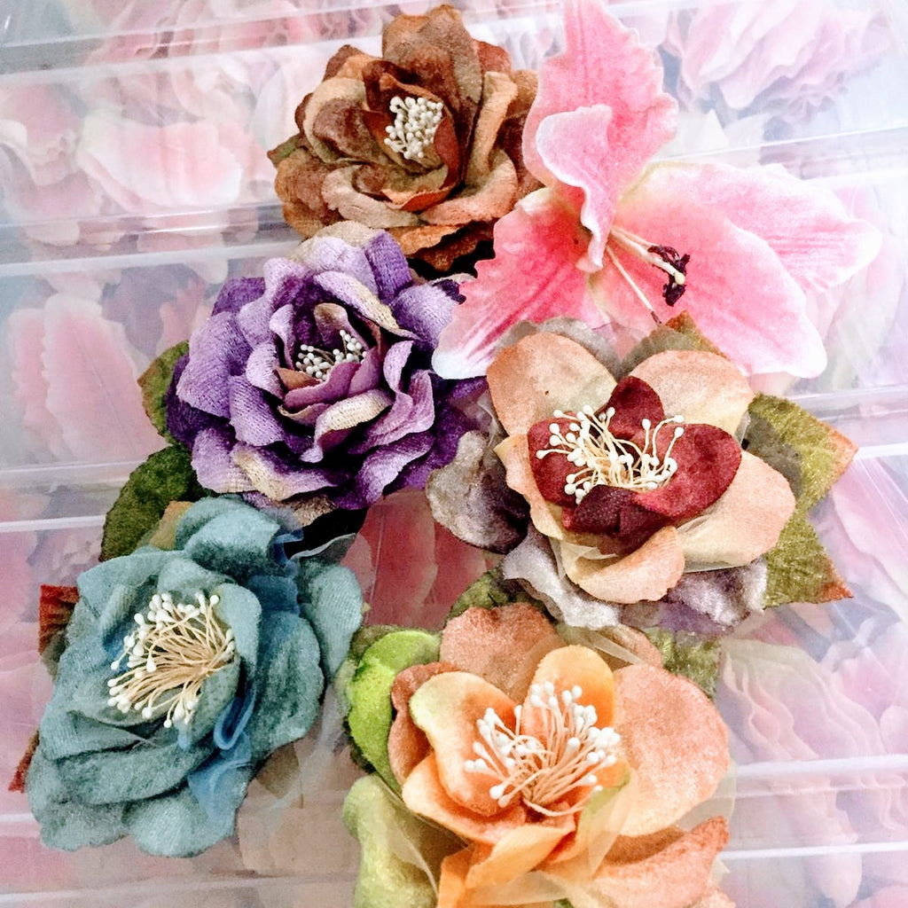 Faux roses. Flowers for crafting and millinery