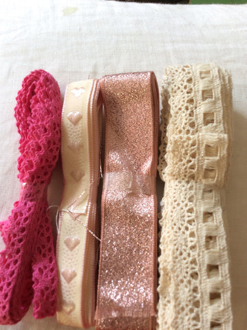 30m assorted Ribbons or Lace