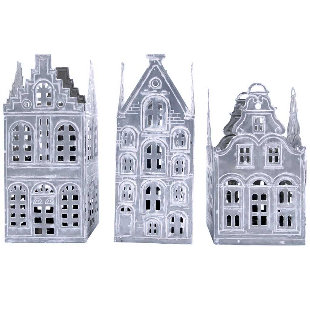 Decor - Set of 3 House Tealight Holders - Hutsly