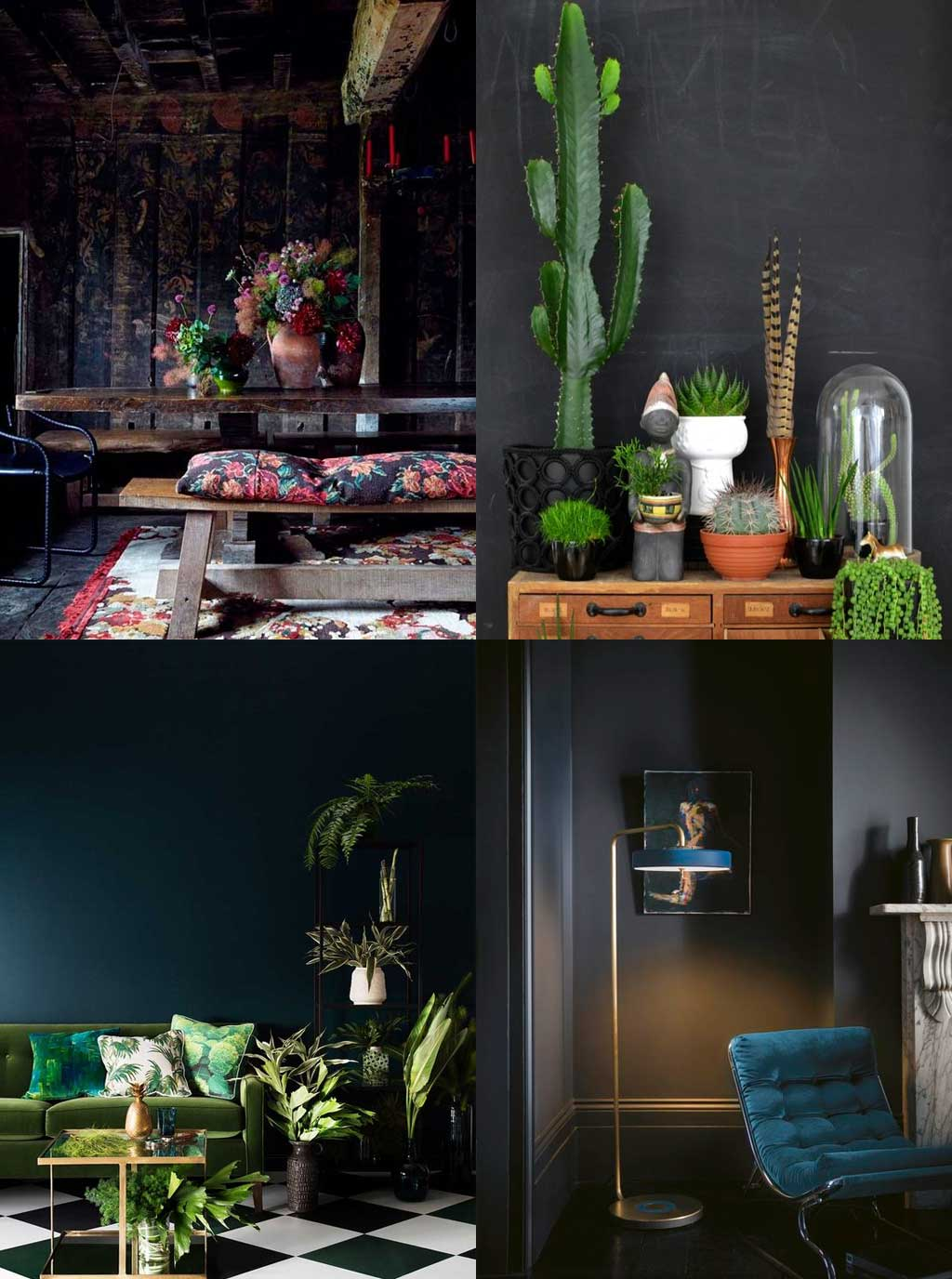 Colour Psychology in Interior Design - Black Rooms - Hutsly Blog