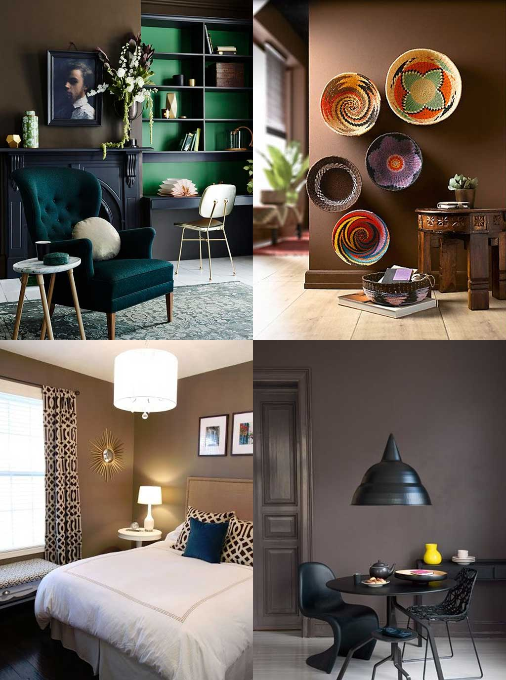 Colour Psychology in Interior Design - Brown Rooms - Hutsly Blog