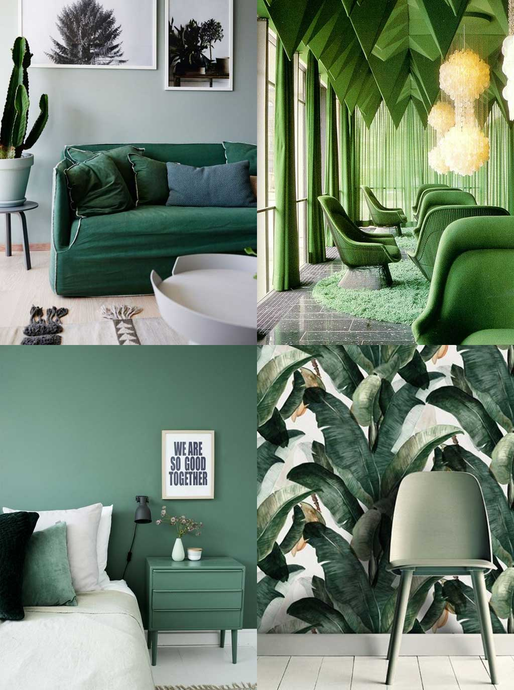 Colour Psychology in Interior Design - Green Rooms - Hutsly Blog