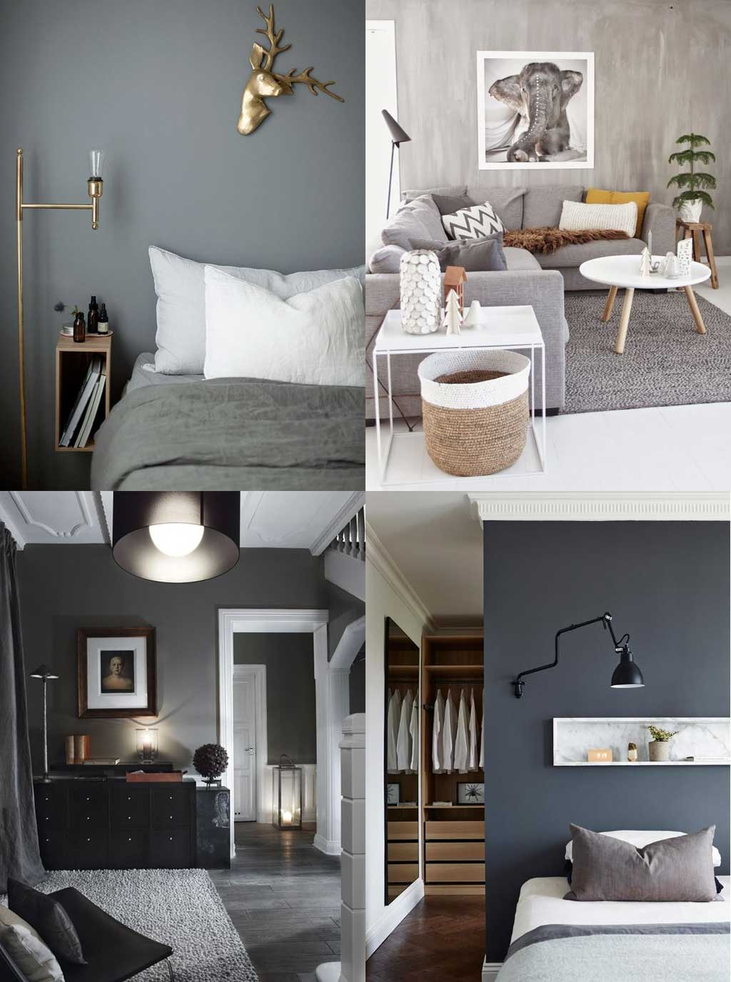 Colour Psychology in Interior Design - Grey Rooms - Hutsly Blog