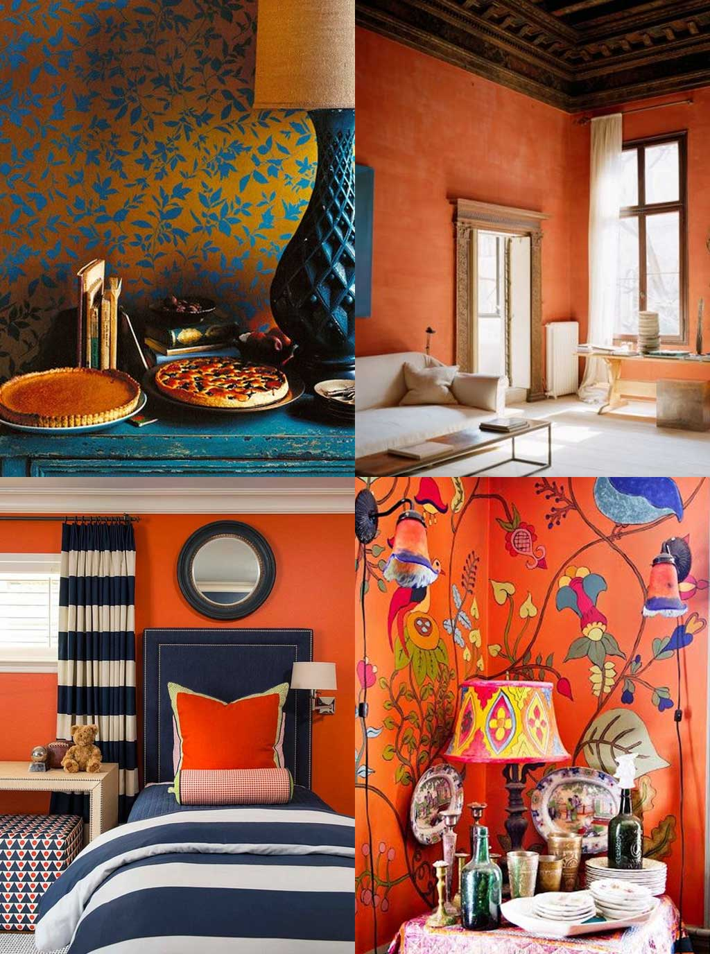 Colour Psychology in Interior Design - Orange Rooms - Hutsly Blog