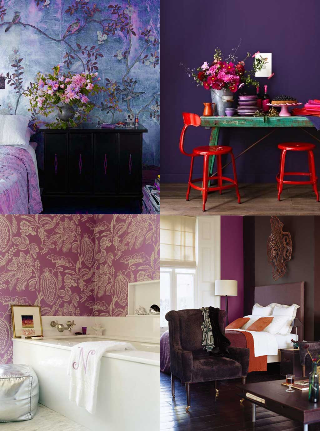 Colour Psychology in Interior Design - Purple Rooms - Hutsly Blog