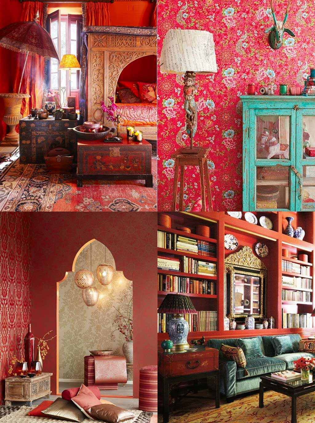 Colour Psychology in Interior Design - Red Rooms - Hutsly Blog