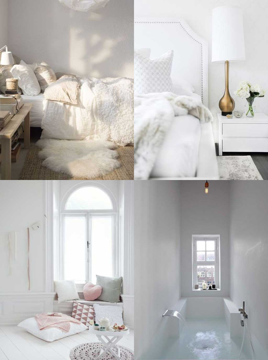 Colour Psychology in Interior Design - White Rooms - Hutsly Blog