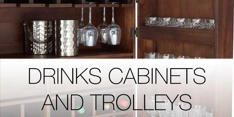 Drinks cabinets and trolleys on Hutsly
