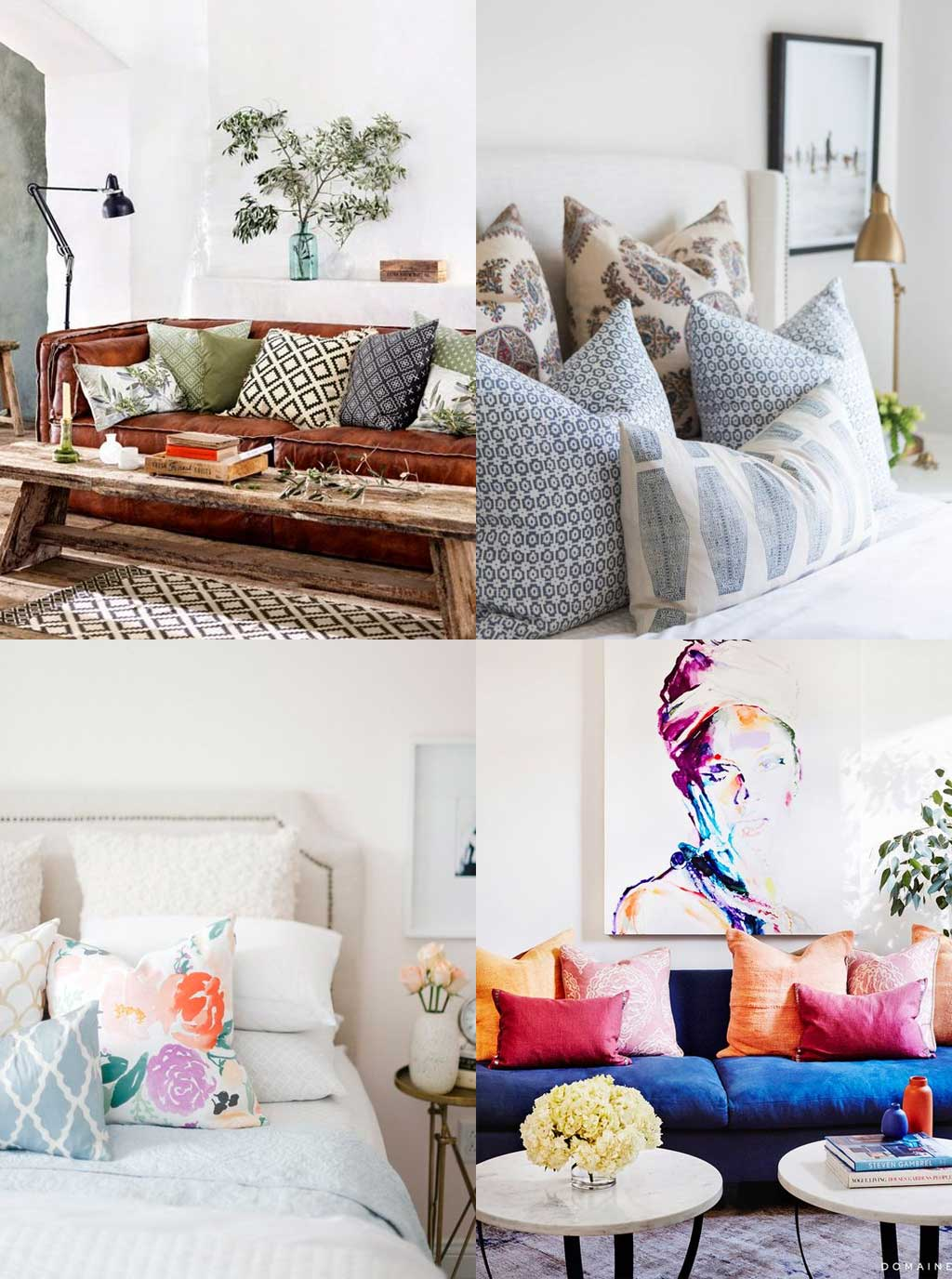Interior Design Tip 06 - Pile the pillows high - Hutsly Blog