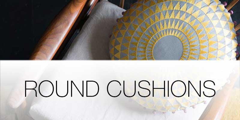 Round cushions on Hutsly