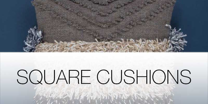Square cushions on Hutsly