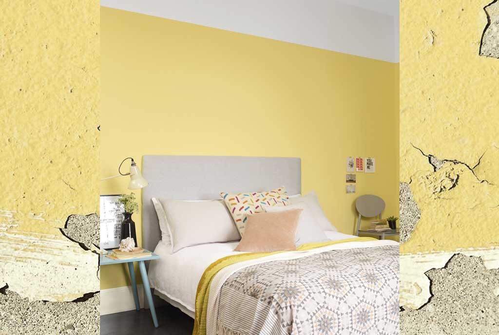 yellow bedroom with grey accents hutsly