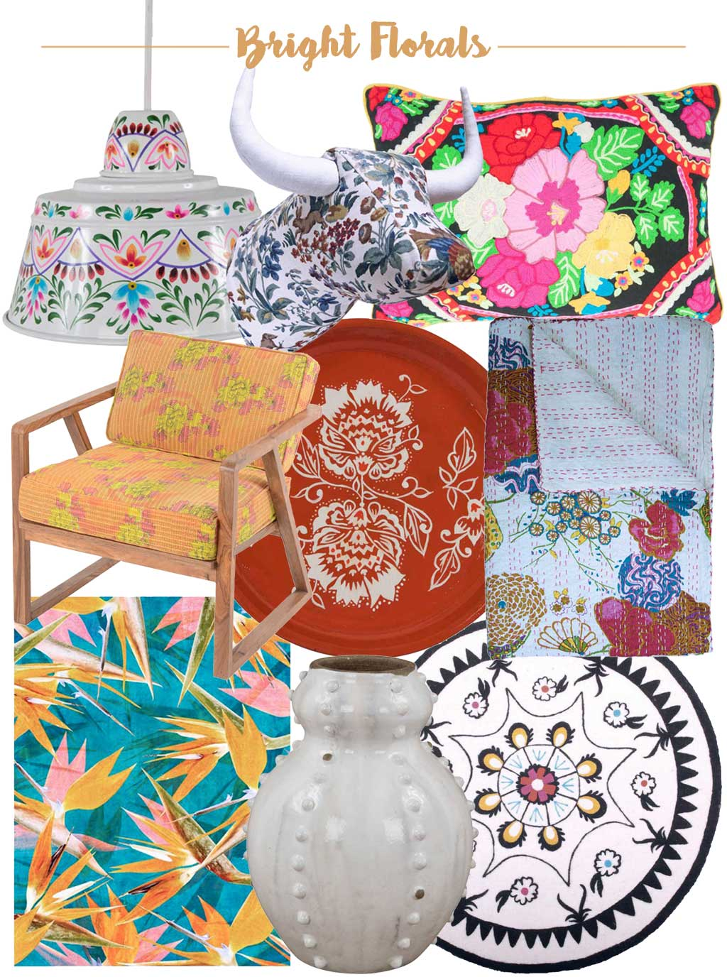 Bright Florals - Product Inspiration - Blooming Gorgeous - 3 Ways to Decorate with Florals - Hutsly