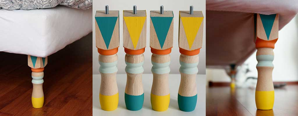 Hutsly DIY Project - Colourful Furniture Legs