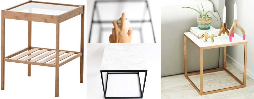 Hutsly DIY Project - Ikea Hack - Marble and Copper Table