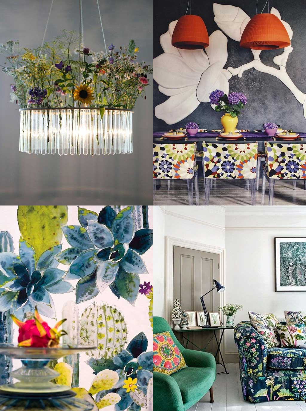 Modern Florals - Blooming Gorgeous - 3 Ways to Decorate with Florals - Hutsly