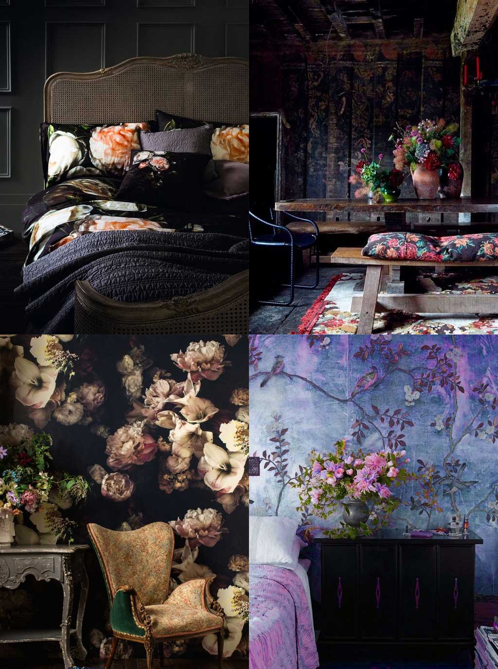 Moody Florals - Blooming Gorgeous - 3 Ways to Decorate with Florals - Hutsly