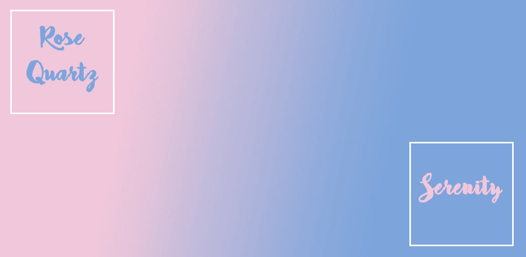 Pantone Colour Of The Year 2016 - Rose Quartz and Serenity - Hutsly