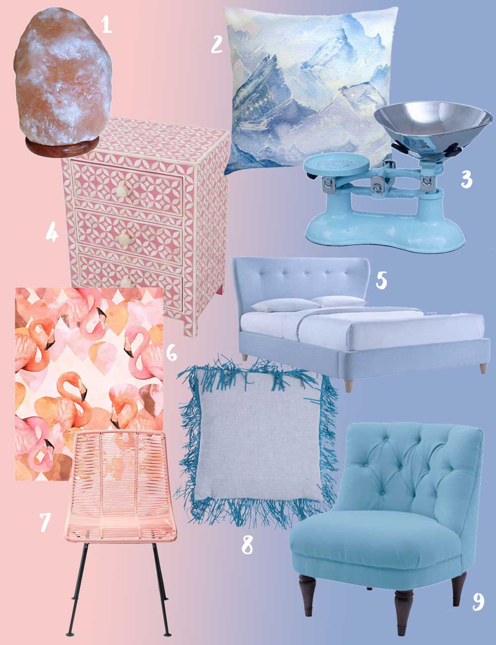Pantone Colour of the Year 2016 - Rose Quartz & Serenity - Get The Look - Hutsly