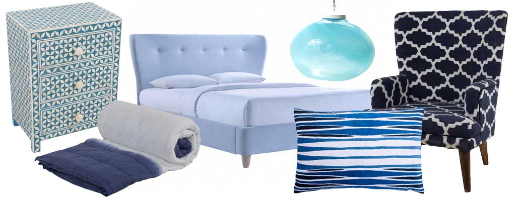 White and Blue products on Hutsly - the top 5 Interior Design trends of 2016
