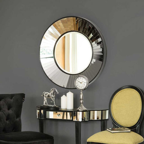 Large Faceted Wall Mirror