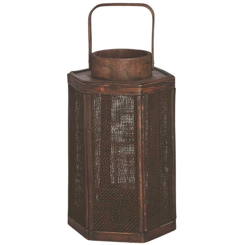 Dark Brown Hexagonal Lantern