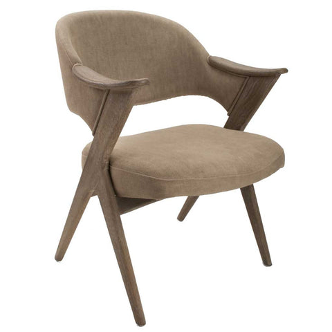 Louis Grande V Frame Oak Wood Armchair