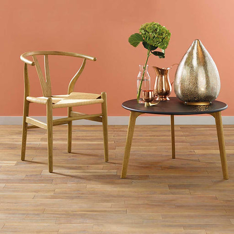 Columbus Natural Toon Wood and String Wishbone Chair