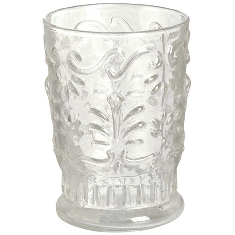Clear Bohemian Glass Vase