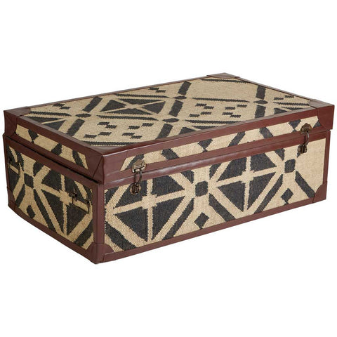 Aztec Print Coffee Table Trunk