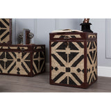 Nui | Set of 2 Aztec Print Side Table Trunks