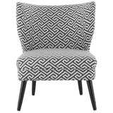 Black and Beige Helios Print Chair
