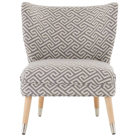 Grey and Beige Helios Print Chair