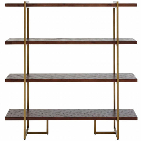 Brando Acacia and Brass Shelf