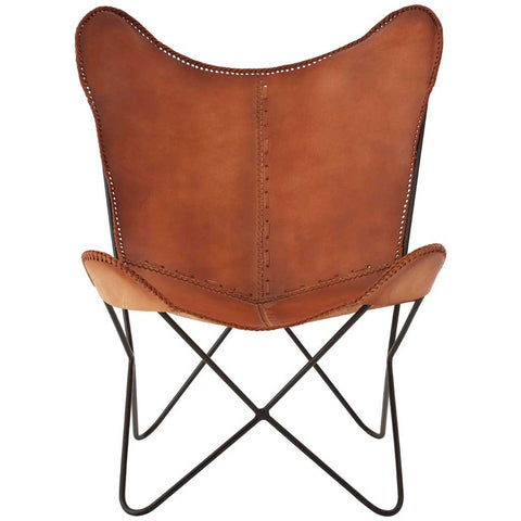 Buffalo Leather Butterfly Chair