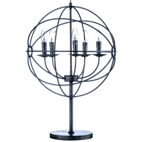 Globe shaped table lamp