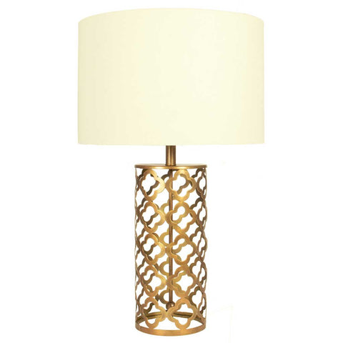 Magda Antique Brass Cut Out Tabe Lamp Base