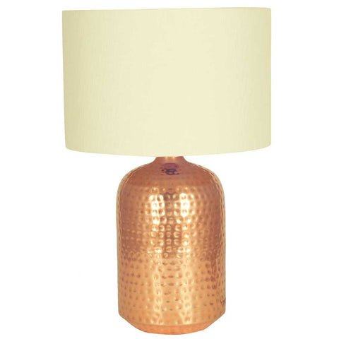 Mambo Copper Hammered Capsule Table Lamp Base
