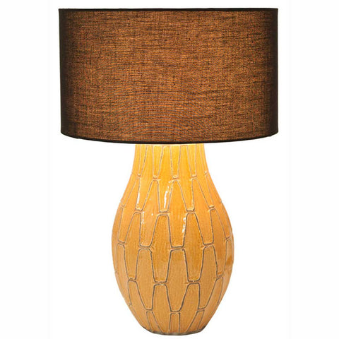 Gaudi Mustard Geometric Table Lamp Base