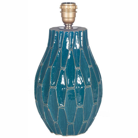 Gaudi Teal Blue Geometric Table Lamp Base
