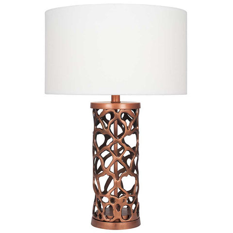 Copper Metal Cutout Table Lamp