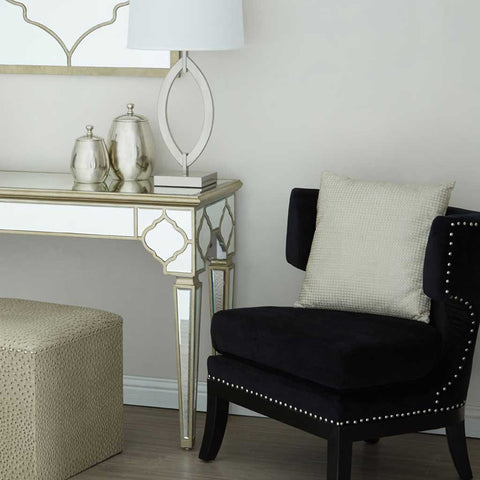Kensington Townhouse Black Cotton Velvet Armchair