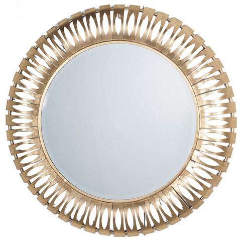 Large Cutout Gold Mirror