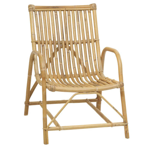 Natural, White or Black Rattan Olivier Armchair