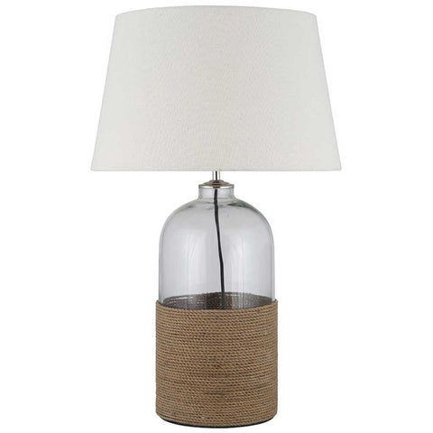 Glass and Rope Table Lamp Base
