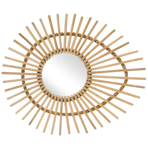 Natural Rattan Eye Mirror