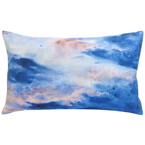 Rectangular Borealis Abstract Cushion